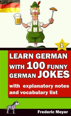 Buchcover - Learn German with 100 funny German jokes